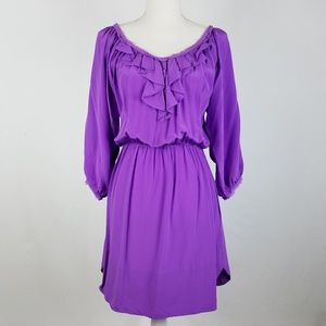 Rebecca Taylor Dress 100% Silk Purple Size 6
